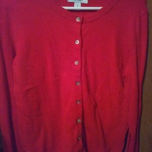 Old Navy red button up cardigan, size medium
